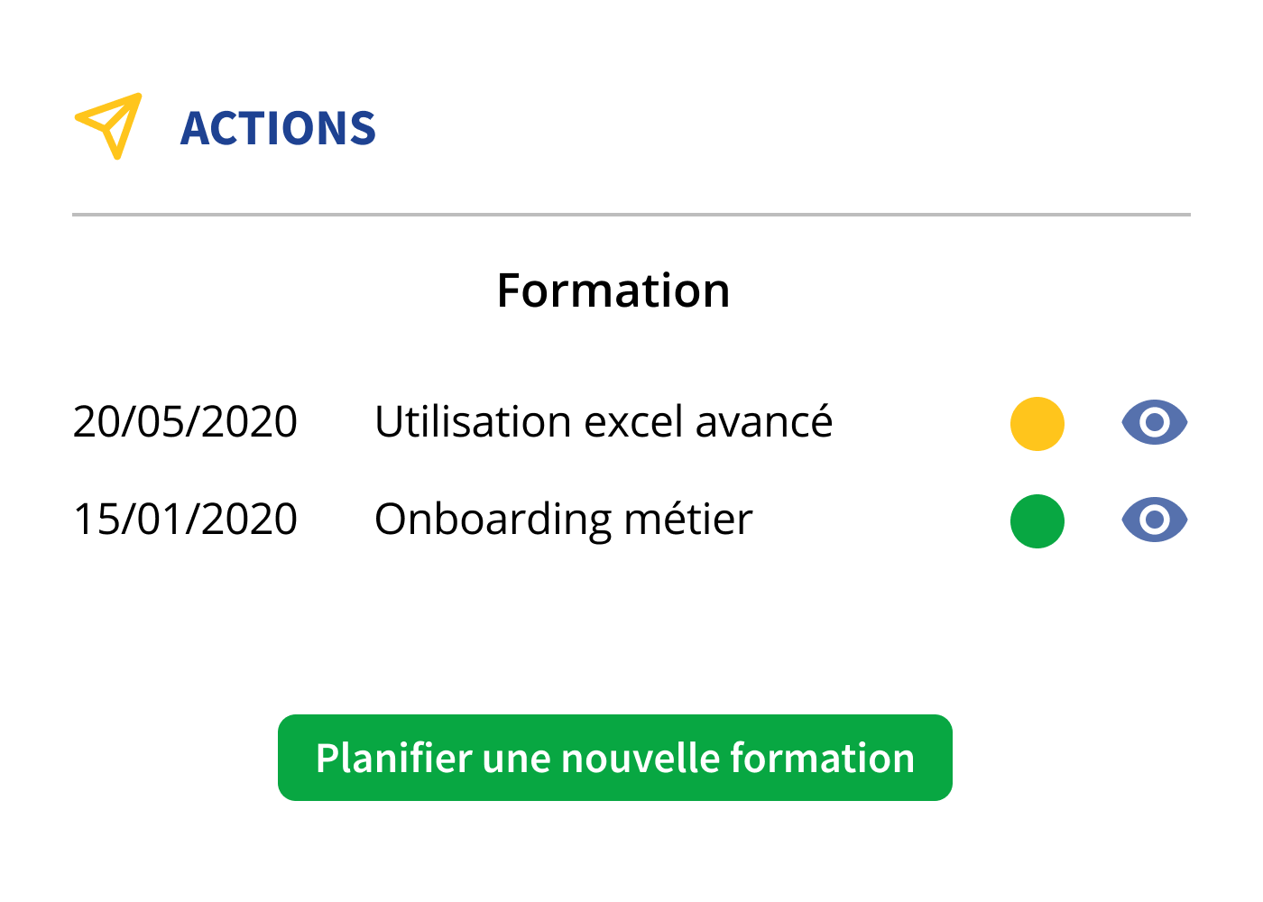 Planification d'actions